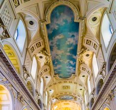 The stunning ceiling of Quebec City's Notre-Dame Church!