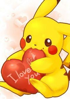 Pikachu loves you♥ Pikachu Drawing, Pikachu Art, Cute Pikachu, Play Pokemon, Cute Pokemon Wallpaper, Cute Disney Wallpaper, Cute Cartoon Wallpapers, Kawaii Drawings, Disney Drawings