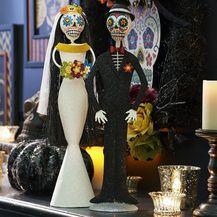 Glitter Day of the Dead Bride & Groom