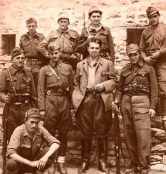 Enver hoxha and Albanian partisans