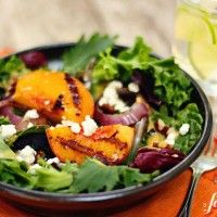 grilled peach salad with peach cumin dressing - a farmgirl's dabbles, I love this blog. So many yummy treats!
