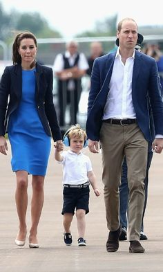 George was dressed sharp for his big day wearing a white short sleeve polo shirt, navy shorts and matching Hampton Nantucket canvas shoes from Trotters.
