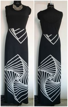 lycra maxi..love the graphic print <3