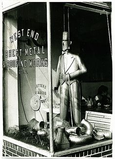 Photo By David Godsmith, Sculpture In The Window Of Goldsmithu0027s West End  Sheet Metal And