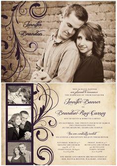 Photo Wedding invite    www.designedley.com