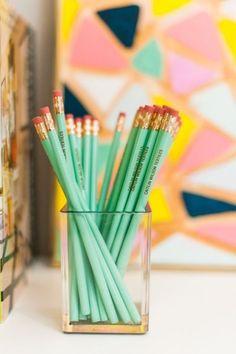 Customized pencil set: http://www.stylemepretty.com/living/2015/05/05/13-multitasking-gifts-for-a-multitasking-mom/: