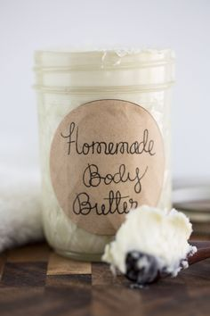 Homemade body butter via Love+Cupcakes