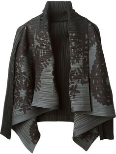 Issey Miyake Pleats Please By pleated cardigan on shopstyle.co.uk