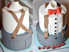 Rev Party, Cakes For Men, Men Cake, Fondant Cakes, Cupcake Cakes, Bow Tie Cake, Cake For Husband, Little Man Party, Shirt Cake