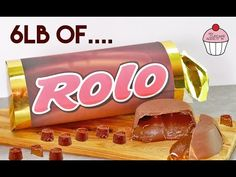 GIANT ROLO CANDY BAR RECIPE + No Thermometer Caramel | My Cupcake Addiction - YouTube Chocolate Bar Cakes, Chocolate Bar Recipe, Giant Chocolate, Chocolate Biscuits, Giant Sweets, Giant Food, Rolo Cookies, Candy Cookies, Giant Candy Bars