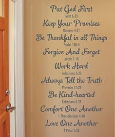 Look what I found on #zulily! 'Bible Family Rules' Wall Quotes™ Decal by Wallquotes.com by Belvedere Designs #zulilyfinds