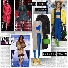 MFW Fall 2015 Trend Report Quilted Coats by stylepersonal on Polyvore featuring moda, Zara, Jaeger, Joseph, Free Lance, McKleinUSA, Moschino, MaxMara, Versace and Emporio Armani