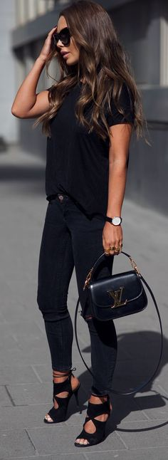 Everything Black Outfit Idea by Johanna Olsson