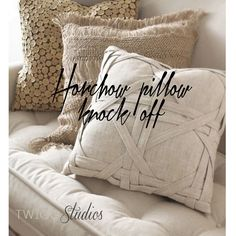DIY Horchow windowpane pillow knock off tutorial from Twigg studios
