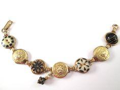 USMA mom, USMA wife, USMA girlfriend, USMA cadet! WEST POINT cadet antique button bracelet. Show your support!