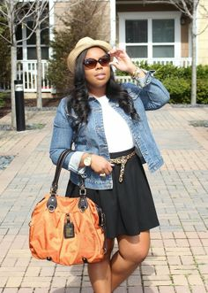 Casual Chic look featuring the Denim Jacket perfect for a day at the farmers market. Visit www.NajaDiamond.com for outfit details.