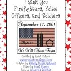 To remember 9/11, I created these letter writing printables.  You can have your students write letters to firemen, police officers, or soldiers tha... 4th Grade Writing, Letter Writing, Community Helpers, Community Service, Daisy Scouts, Girl Scouts, Fall Themes, 6th Grade Social Studies, Grade 2