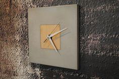 Concrete Clock on Etsy, $107.80 CAD