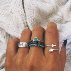Turquoise Rings #BohoFest #PoshSquareStyle