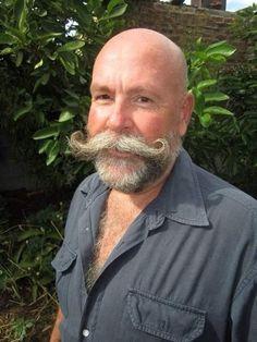 Beard And Mustache Styles, Beard No Mustache, Beard Styles, Bald With Beard, Bald Men, Cool Mustaches, Moustaches, Beard Pictures, Handlebar Mustache