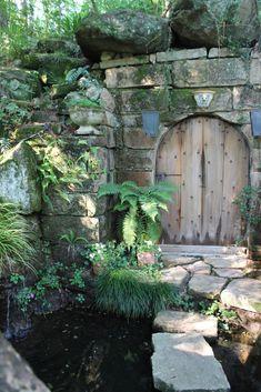 enchanted pond with garden gate to ? Garden Doors, Garden Gates, Witch's Garden, Indoor Garden, Garden Ideas, Dream Garden, Home And Garden, Portal, Enchanted Garden