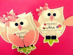 convite coruja - owl