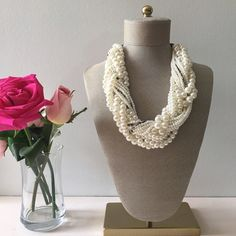 Pearl necklace Gray pearl statement neckace. HWL Boutique Jewelry Necklaces