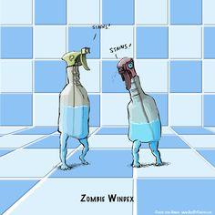 Illustrations Of Zombie Puns By Garth von Ahnen