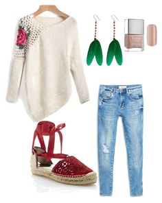 """""""Untitled #3"""" by helenfp on Polyvore featuring MANGO, Oscar de la Renta, Butter London, OSCAR Bijoux and outandabout"""