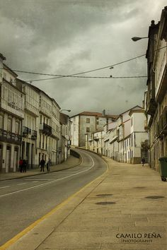 Santiago de Compostela. I think this is the street where I lived! Calle Pombal?