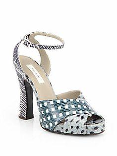 Marc Jacobs - Mixed Print Snakeskin Sandals