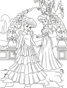 Princess Activity and Coloring Book for Kids This jumbo activity book for kids contains princess-themed coloring pages, mazes, dot to dots and more. Both educational and entertaining, it provides hours of fun and educational princess-themed amusement. Bunny Coloring Pages, Princess Coloring Pages, Coloring Book Art, Disney Coloring Pages, Coloring Pages For Kids, Adult Coloring, Princess Activities, Book Activities, Disney Paper Dolls