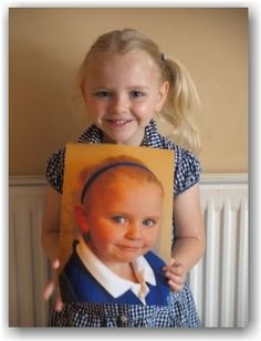 I must remember to do this again this year - take a photograph on the last day of school holding a photo from the first day.