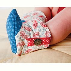 infant fabric boot pattern -  I WILL  email pattern via email
