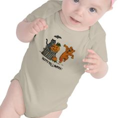Happy Halloween! #Baby T-shirt #comic for #Kids, #Halloween #Fantasy pencil drawing by Krisi ArtKSZP on Zazzle