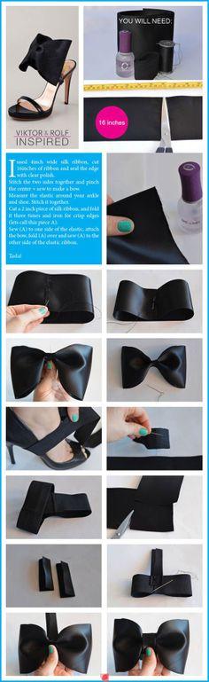 Bow shoe clip DIY