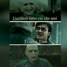 Read Harry e Voldemort from the story Immagini Divertenti Harry Potter by (moonchild) with reads. Harry Potter Tumblr, Harry Potter Anime, Harry Potter Love, Harry Potter Fandom, Harry Potter Memes, Harry Potter World, Voldemort, Funny Photos, Funny Images