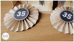 DIY - Kraft Paper Rosettes Step by Step - Rosetones de Papel Kraft Paso a Paso - BALADRE Crafting·Creativity