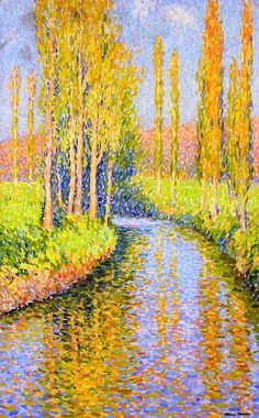 The Athenaeum - Polpars by a Stream (Henri Martin - No dates listed)