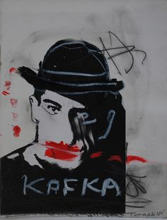 Kafka  Mixed media on paper  38x28.2 cm