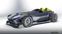 Mammoth Gabriel Hantig Design 2014 on Behance Design Autos, Car Design Sketch, Futuristic Cars, Car Engine, Kit Cars, Performance Cars, Automotive Design, Custom Cars, Concept Cars