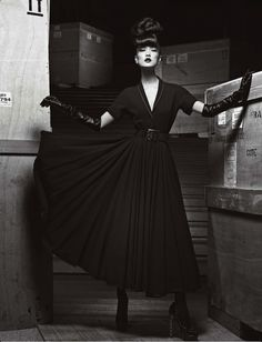 1940s style - Du Juan for Numero China photographed by Yin Chao