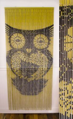 163 13 Bamboo Sunflower Door Beaded Curtain Insects Fly