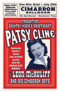 Patsy Cline, Tulsa, Oklahoma, 1961 Fine Art Print Poster