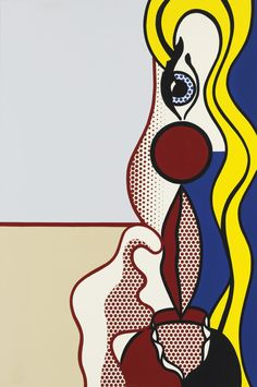Roy Lichtenstein, Female Figure, 1978, Oil and magna on canvas 60 by 40 inches, sold for $6,7 million at the first Sotheby's auction from the Estate of Alfred A. Taubman.