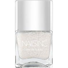 Nails inc Kensington Church Street Snowflake Collection Nail... ($15) ❤ liked on Polyvore featuring beauty products, nail care, nail polish, nail, apparel & accessories, no color, nails inc nail polish, nails inc. and shiny nail polish