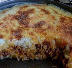 Cookbook Recipes, Cooking Recipes, Greek Sweets, Greek Pasta, Greek Cooking, Greek Dishes, Greek Recipes, Casserole Recipes, Lasagna