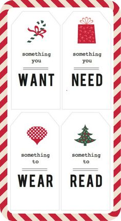 what I want tags for kids for the holidays