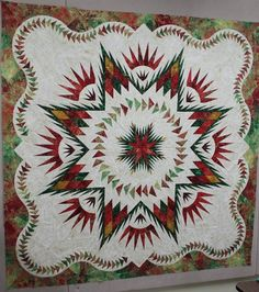 Glacier Star ~ Quiltworx.com by Certified Instructor, Denise Green