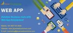 Web Application development makes your Business easy. We offer Web Application development for Schools,Colleges,Hospitals,Real estate,Call centres,BPO. http://www.jayamwebsolutions.com/web-application-development.php